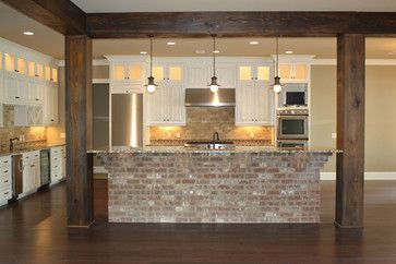 Kitchen Island Ideas Brick love the brick islandgorgeous gourmet kitchen traditional