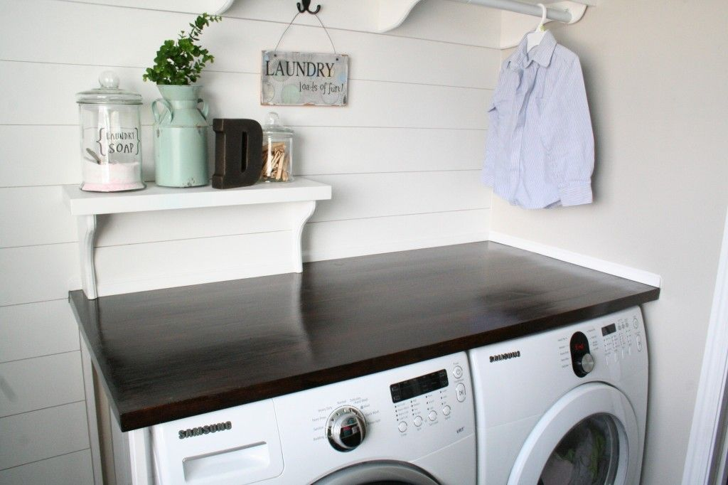Hide Laundry Hookup With Removable Shelf Diy Countertops Diy