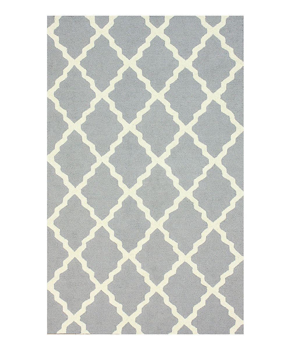 Loving this Gray Marrakech Trellis Wool Rug on #zulily! #zulilyfinds