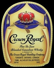 Crown Liquor Label Crown Royal Whiskey Crown Royal Bags