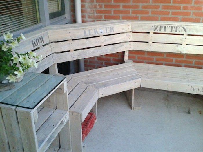 Pallet Bank Kussens : Pallet kussen houten pallet lounge set voor buiten met
