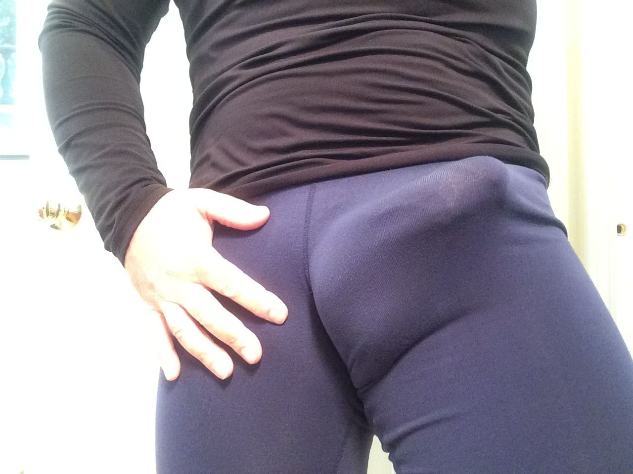 I could see his cock in his spandex #7