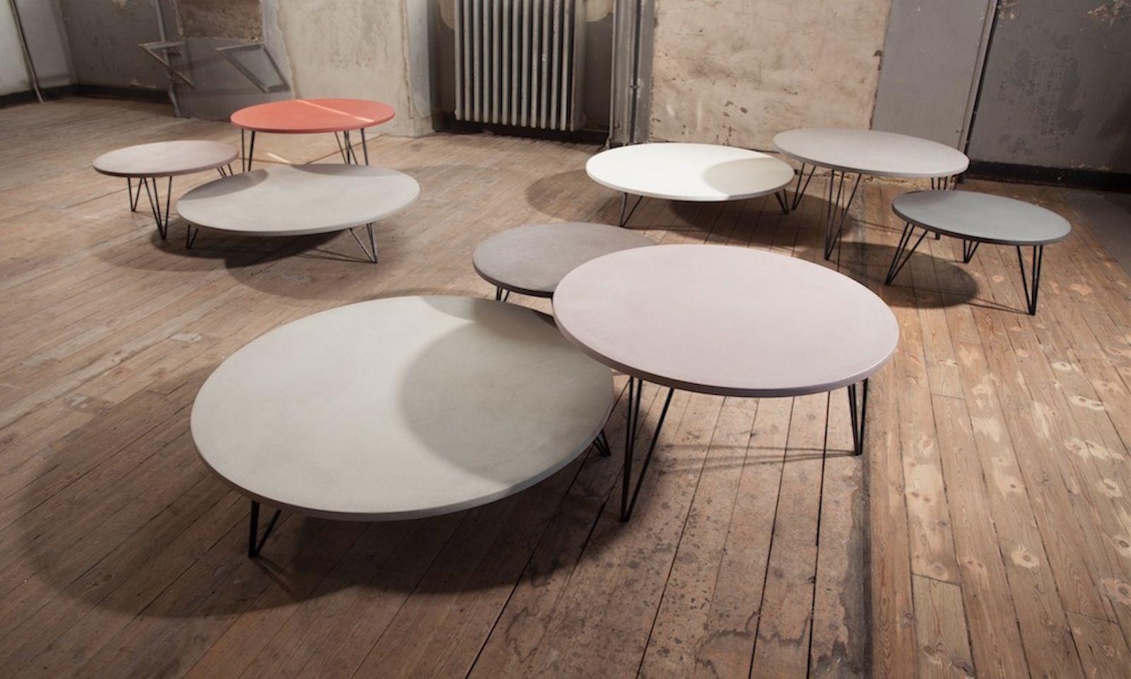 Triss Fabriquant De Mobilier Contemporain Haut De Gamme Table Basse Beton Table Basse Table Basse Ronde