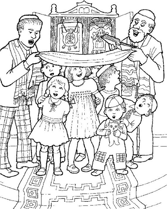 Jewish Coloring Pages for Kids Simchat Torah | Ausmalbilder ...