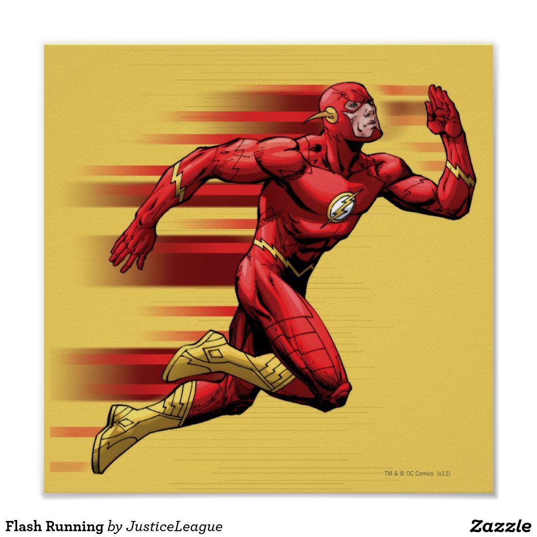 Flash Running Poster Zazzle Com Running Posters Superhero