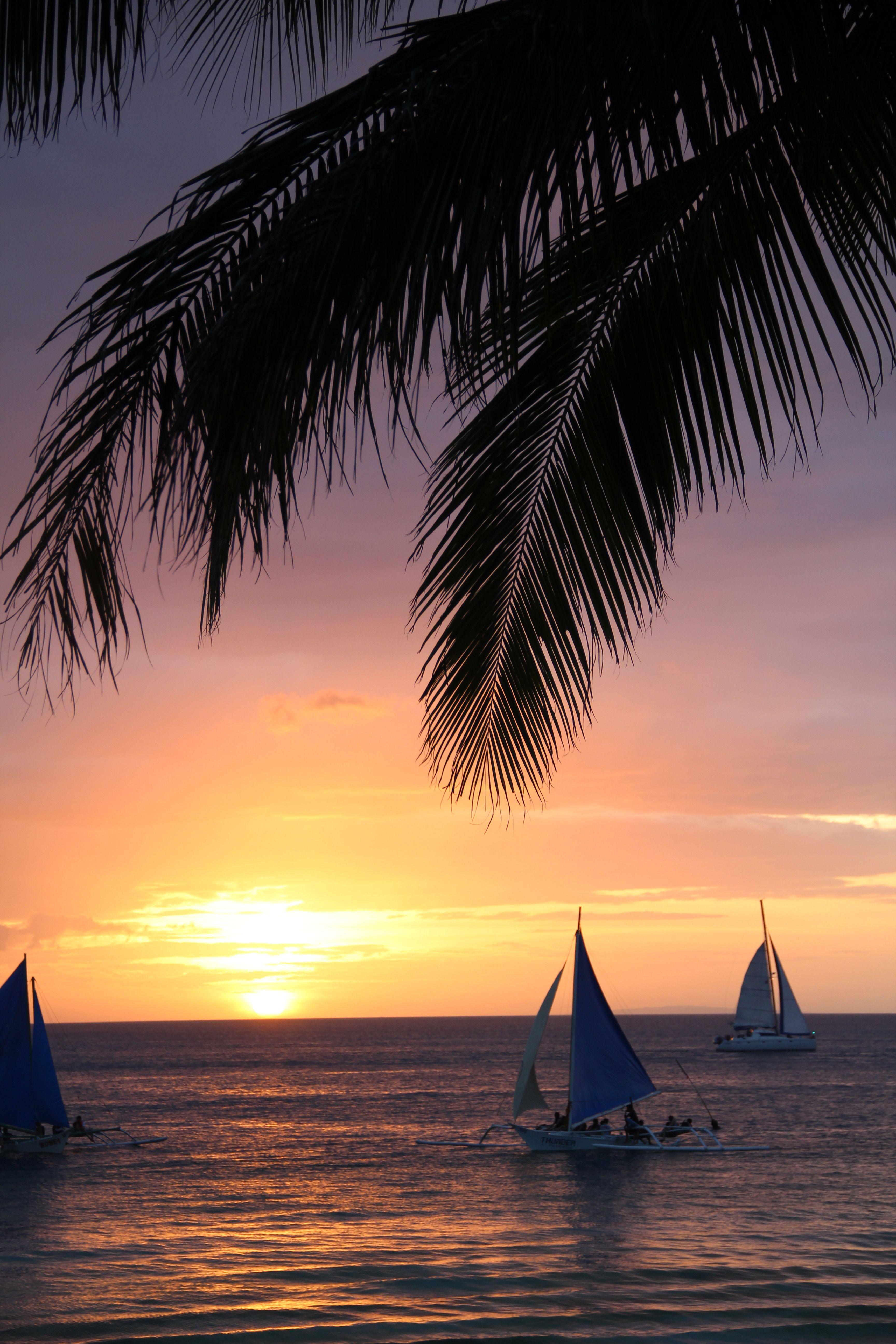 Sunset Boracay Beach Philippines Station 3 Beautiful