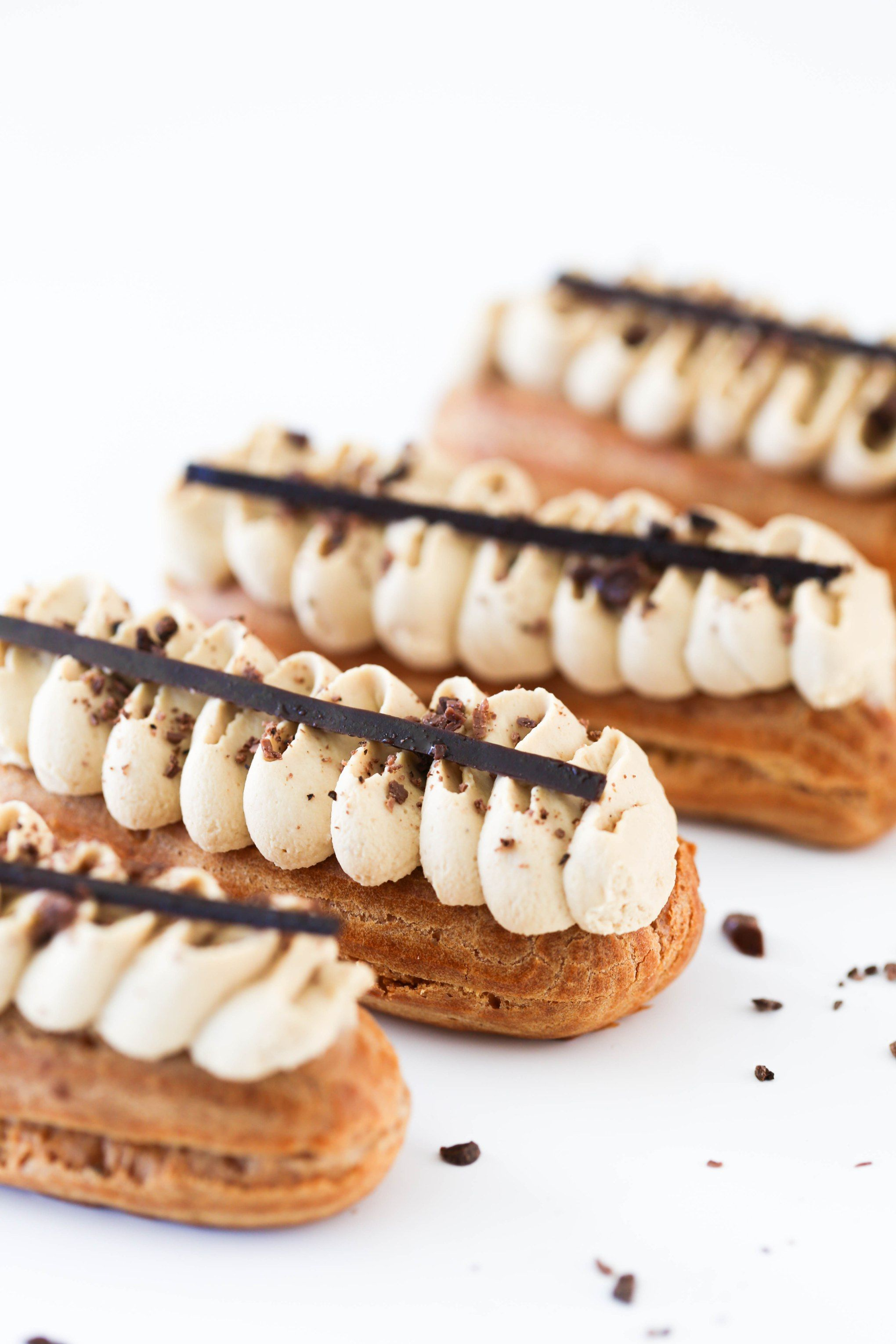 Cream for eclairs. Different cooking options