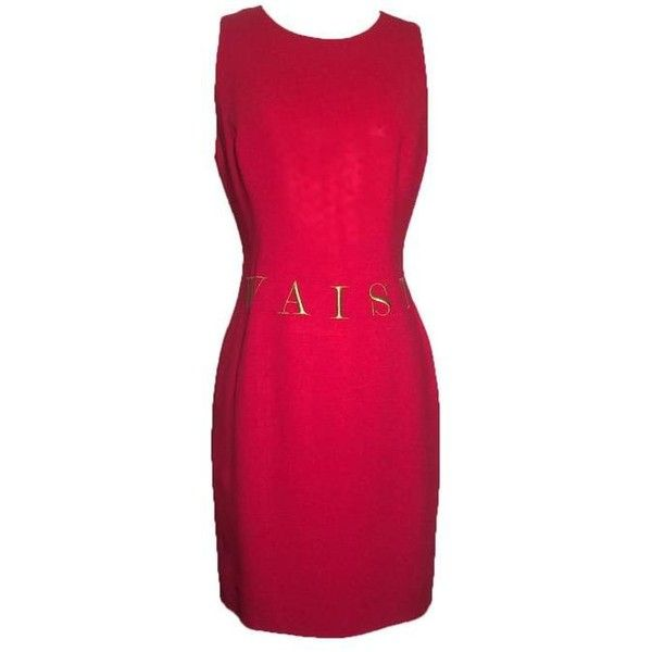 b0e89534bdcc Dress · Preowned Moschino Couture! 1991 Red  waist Of Money  Sleeveless  Shift.