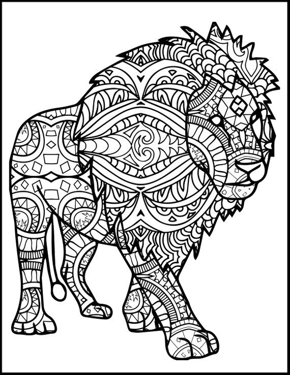 3 Printable Pages for Coloring for Lion Lovers - Coloring ...