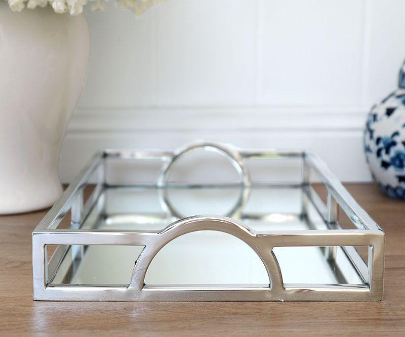 Arlington Silver Mirror Tray Mirror Tray Silver Mirrors Coffee Table Tray