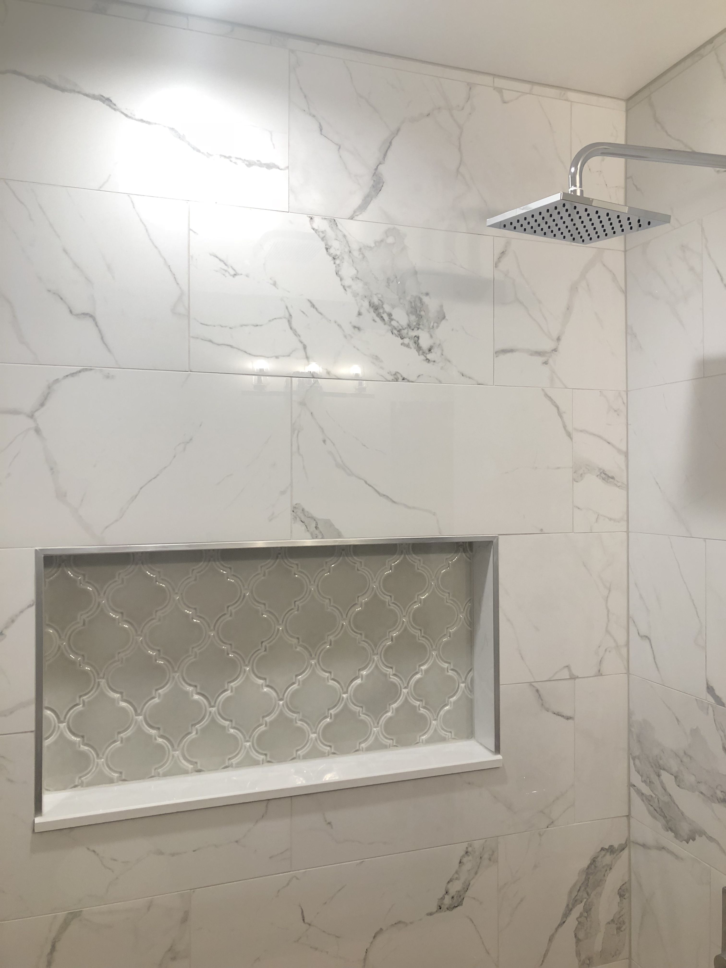 Anatolia Tile Statuario Polished Porcelain Tile Shower Tub