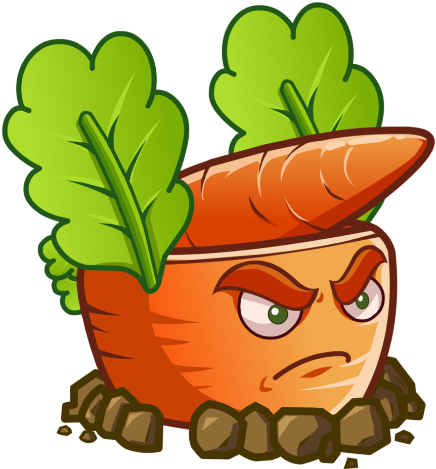 plants vs zombies 2 carrot rocket launcher by