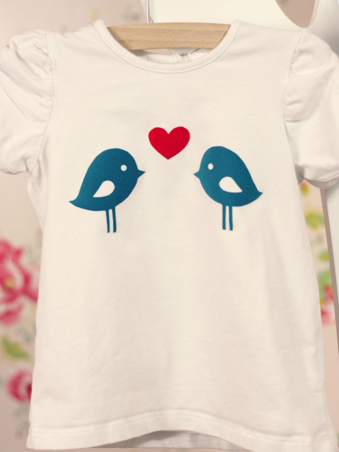DIY - flock - little girl t-shirt | Flock | Pinterest - Ropa, Niños ...