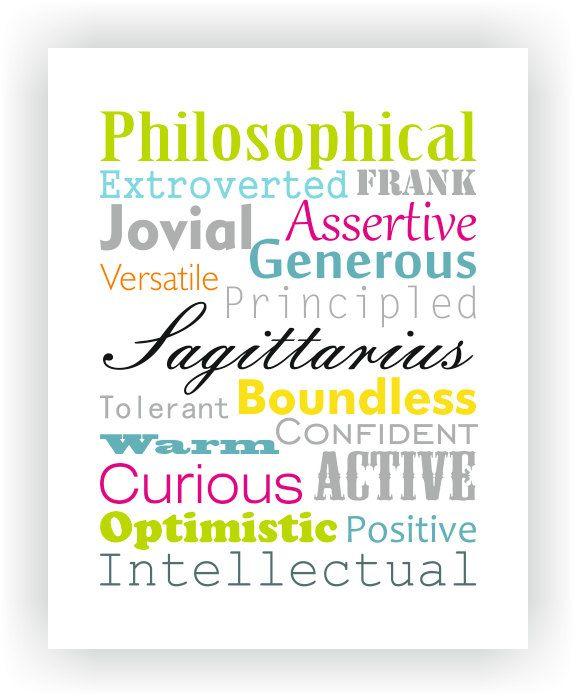 Sagittarius Characteristics Personality Traits Typography ...