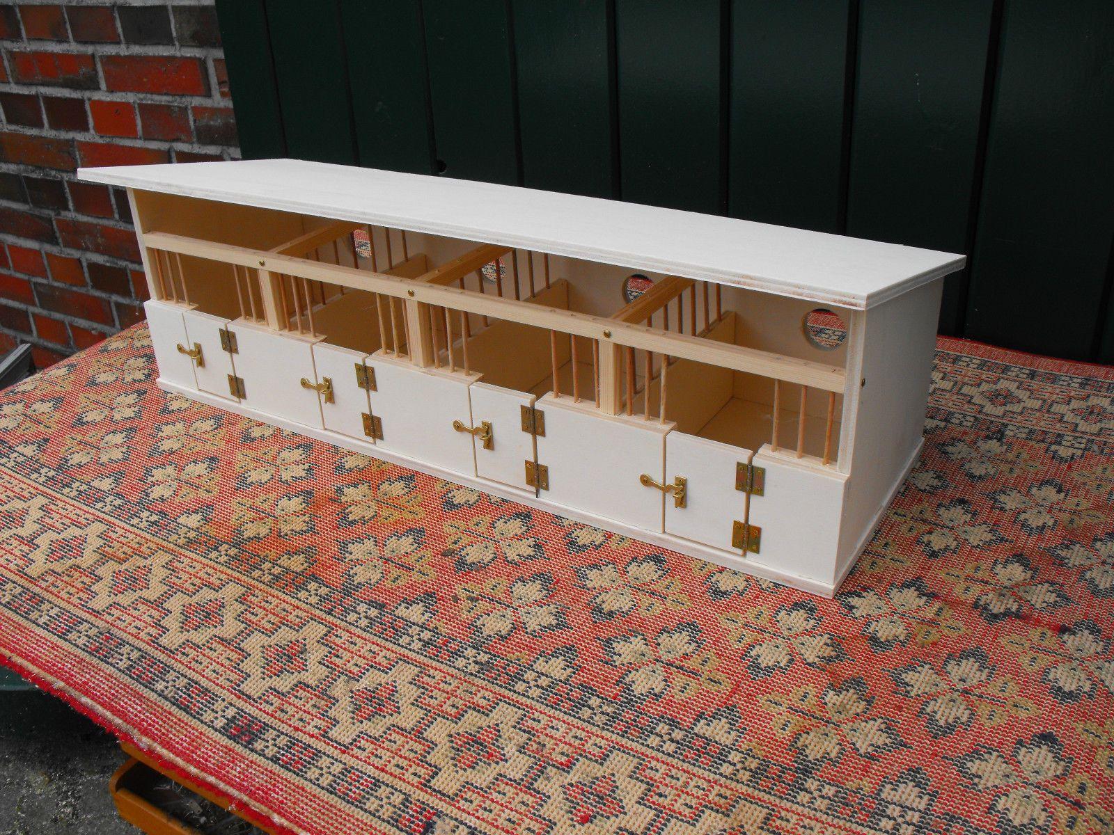 pferdestall pferdeboxen f r u a schleich pferde eigenbau aus holz ebay puppenstube. Black Bedroom Furniture Sets. Home Design Ideas