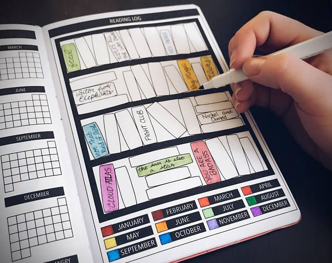 Yearly Reading Log for Passion Planner, Bullet Journal Planner Stickers, Tracker Stickers #journaling