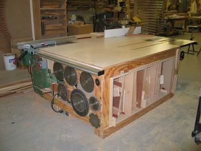 15 Free Table Saw Outfeed Plans Mobile Tables Folding Tables