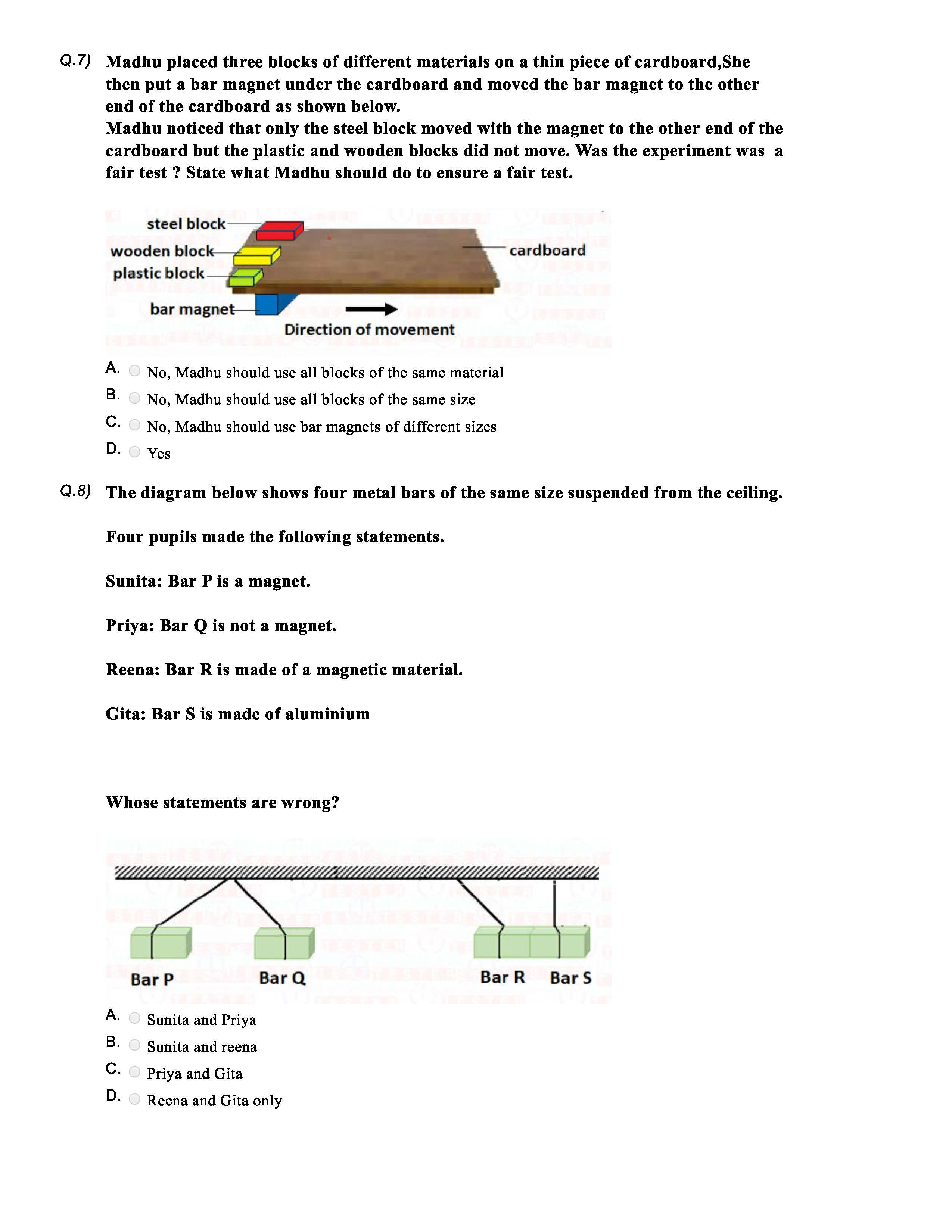 Science Olympiad Experimental Design Sample Answers