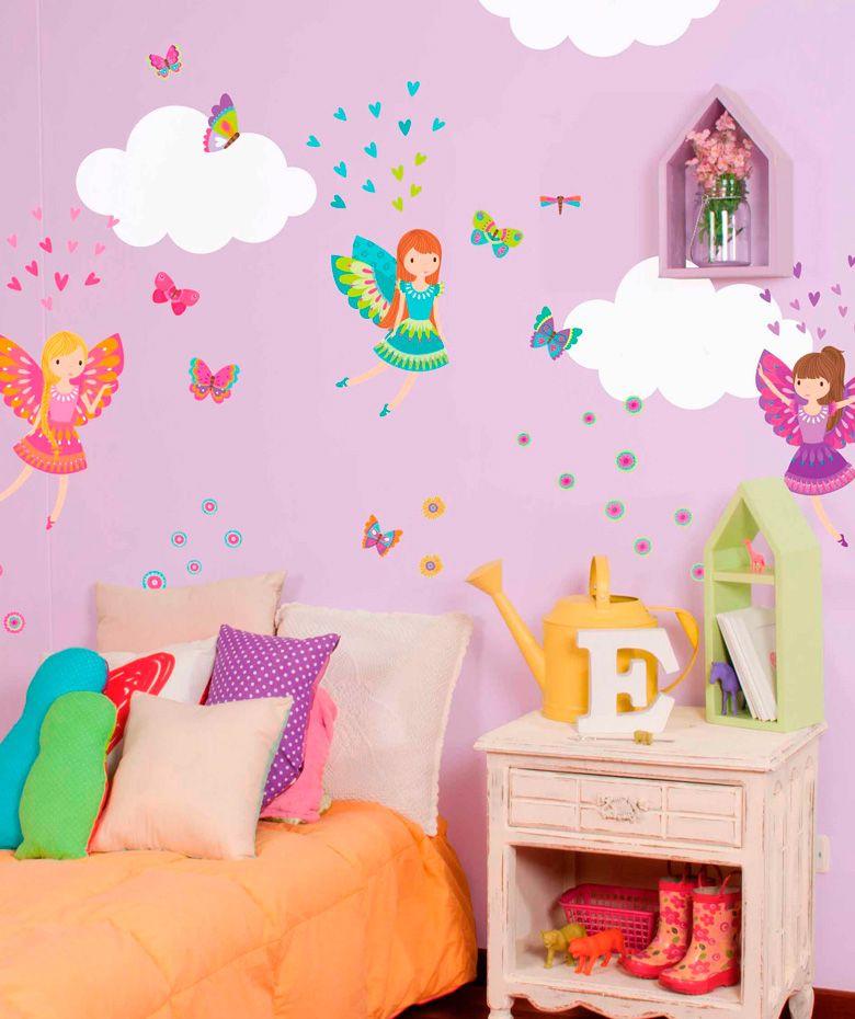 Hadas m gicas vinilo adhesivo decoraci n de paredes for Vinilos infantiles hadas