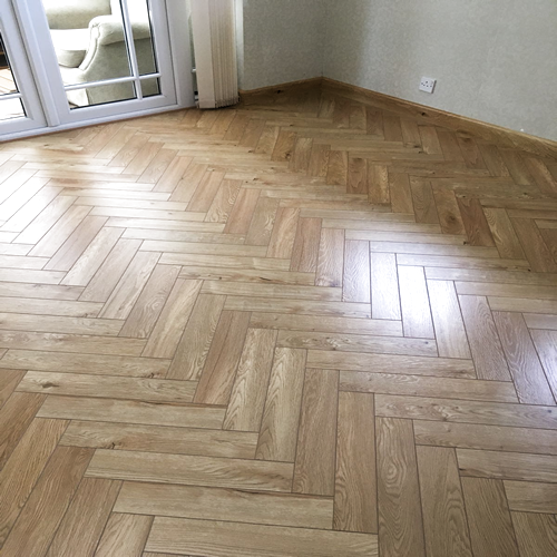 Kensington Natural Oak Herringbone, Parkay Laminate Flooring