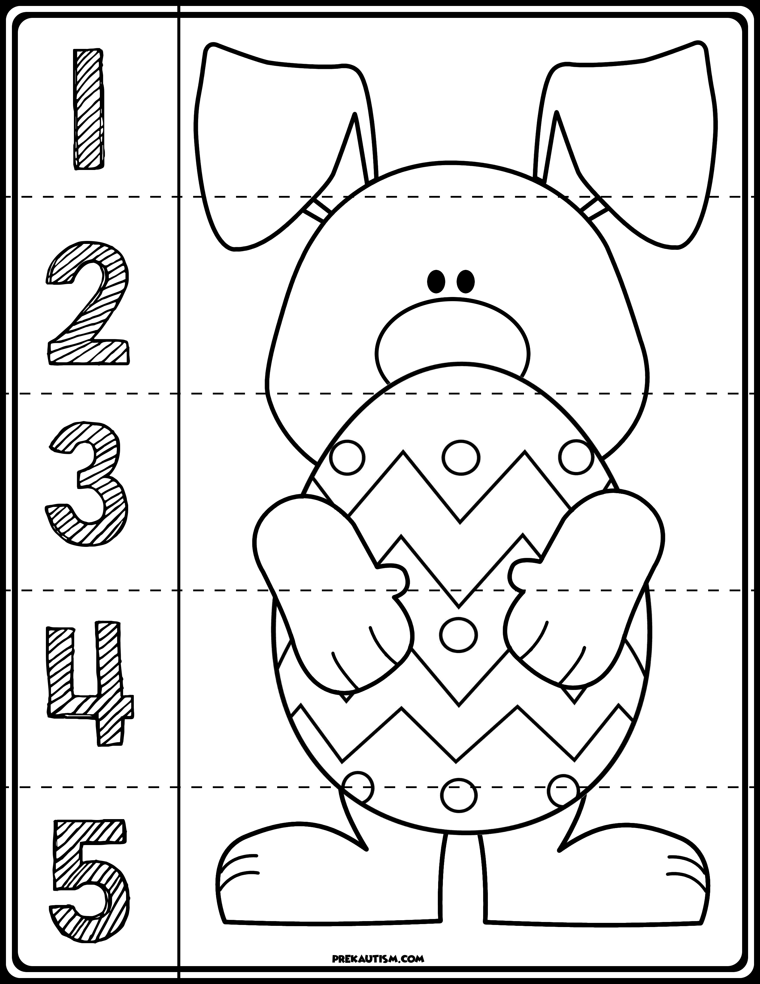 Easter Bunny Line Puzzles Easter Math Worksheets Easter Preschool Preschool Worksheets [ 3300 x 2550 Pixel ]