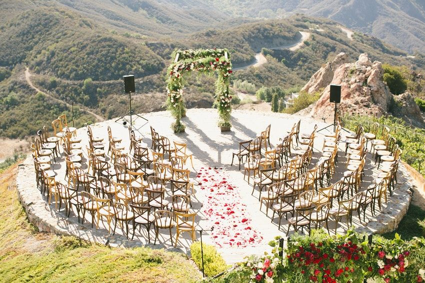 An Elegant Romance Inspired Wedding Venue Malibu Rocky Oaks Estate Vineyards Photo Wedding Ceremony Chairs Ceremony Seating Wedding Locations California