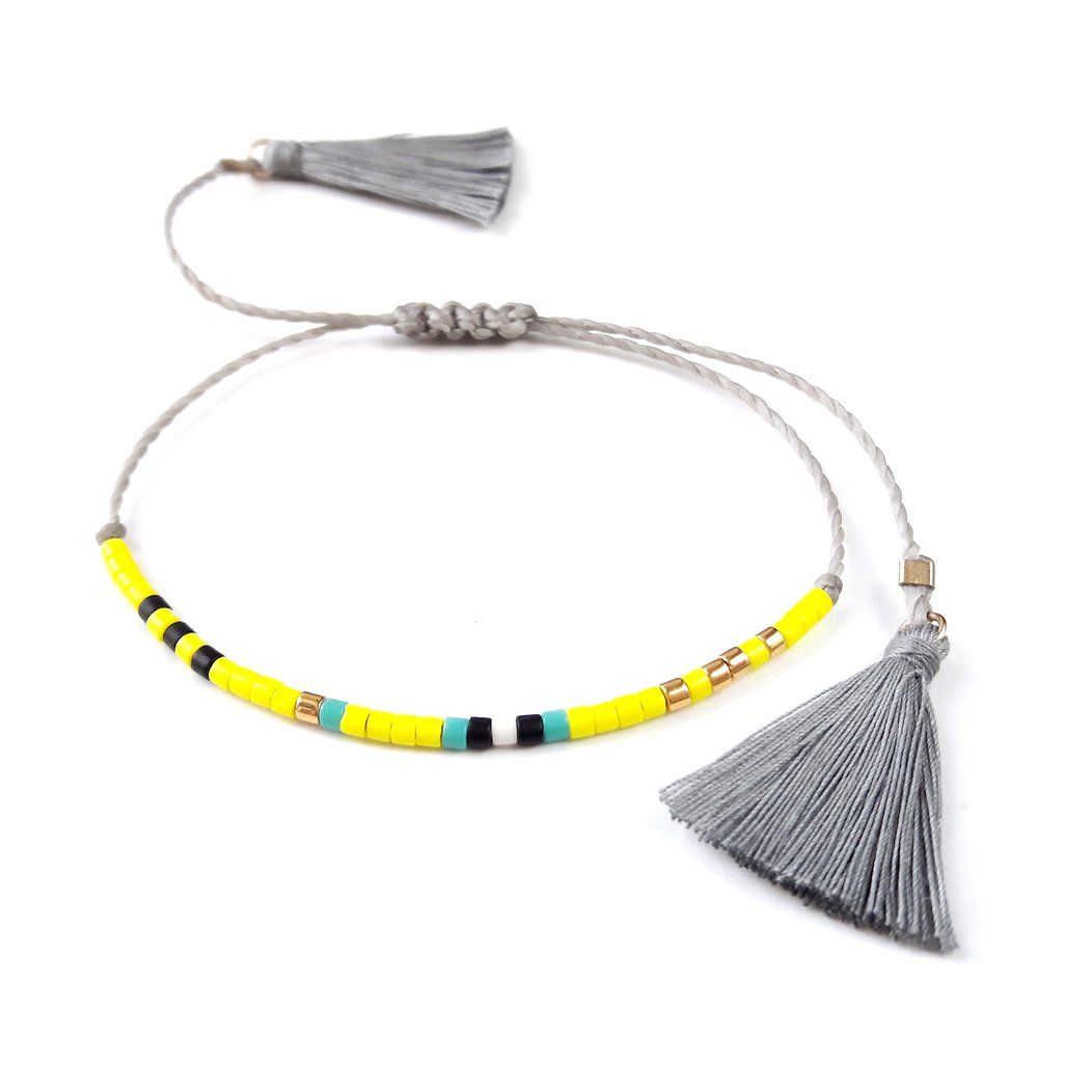 Beaded Friendship Bracelet With Tassels