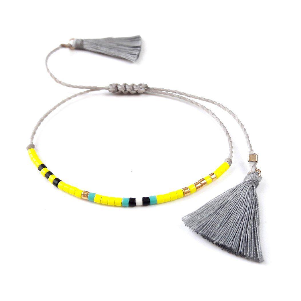 Beaded Friendship Bracelet With Tassels
