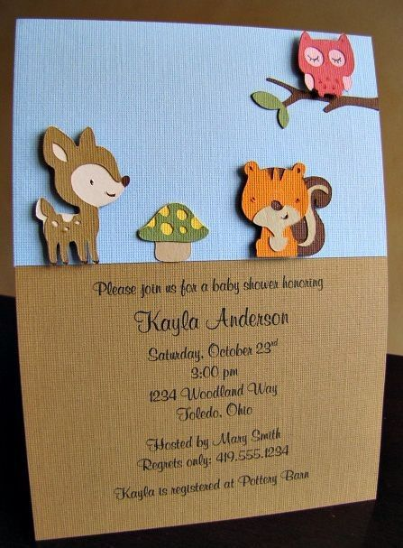 Baby Shower Invitations Using Cricut   Source: Http://www.etsy. Woodland  Animals ...