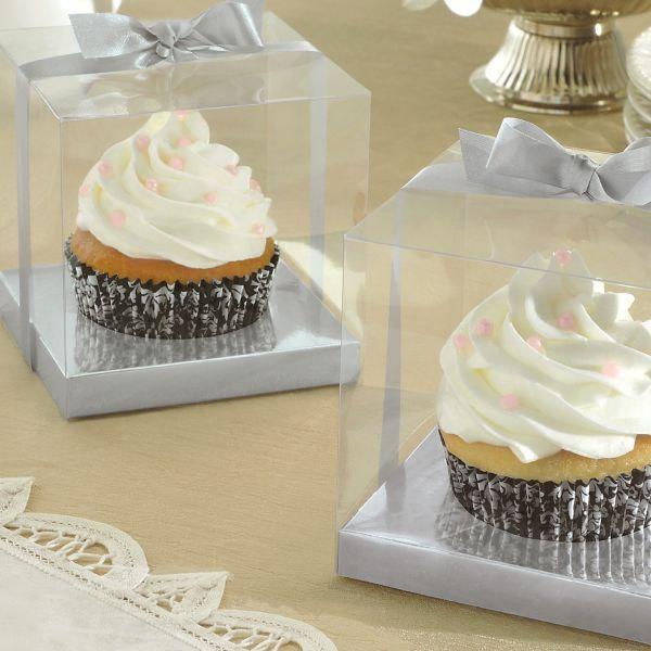 Decorative Cupcake Boxes Silver Individual Cupcake Boxes  Wedding Hacks  Pinterest