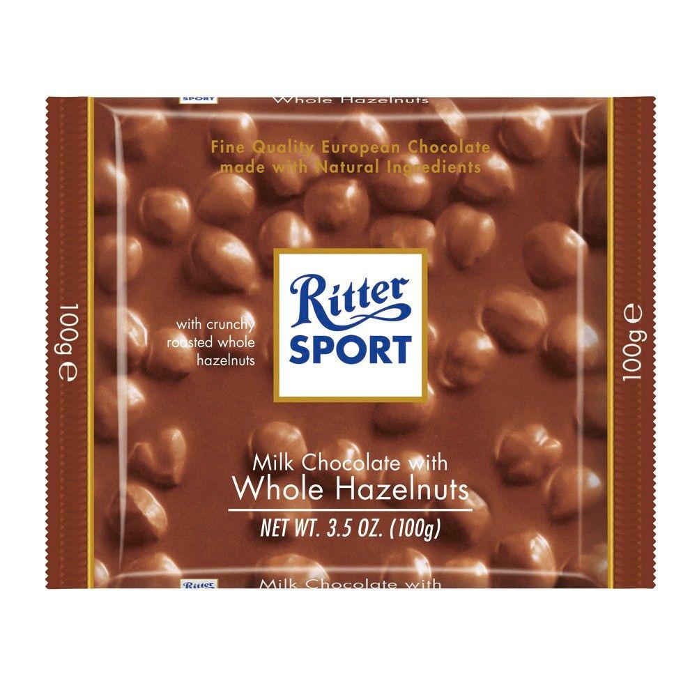 Ritter Sport Milk Chocolate with Whole Hazelnuts Bar 3