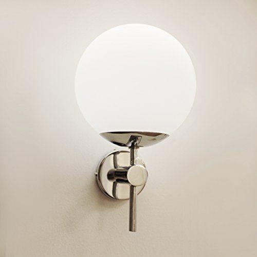 wand leuchte badezimmer lampe vorraum beleuchtung kugel glas rund ip44 inkl lm http das. Black Bedroom Furniture Sets. Home Design Ideas