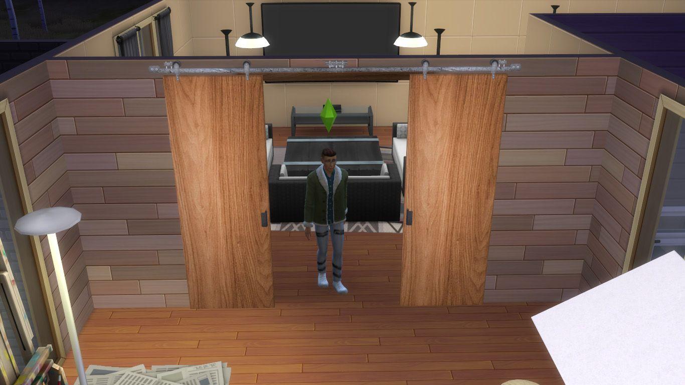 Mod The Sims Railed Sliding Door Functional Sliding