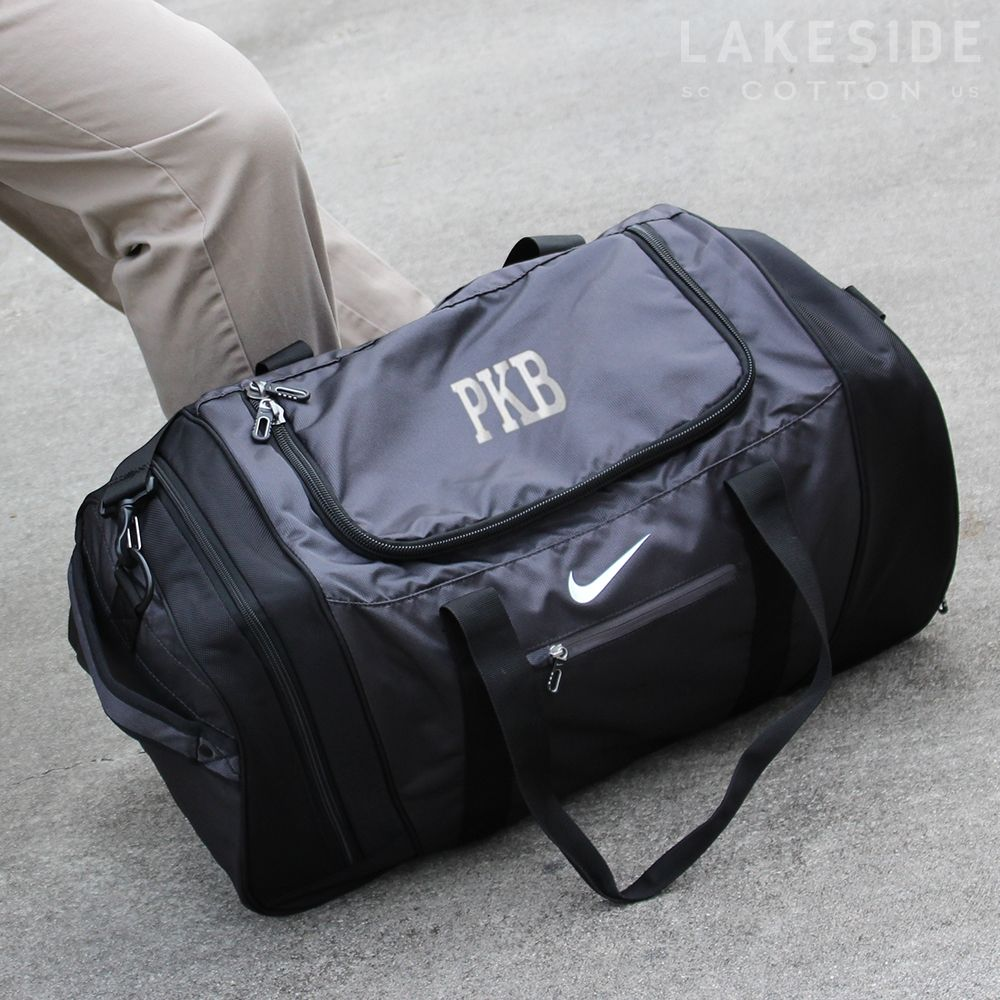 4fa6227e6711 Monogrammed Large Duffel Bag by Nike Golf. Available at LakesideCotton.com!
