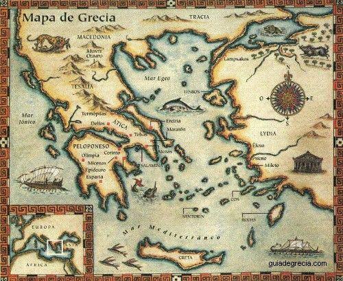 Mapas De Grecia En La Antiguedad Guia Turistica De Grecia Grecia Antigua Mapa Antiguo Mitologia Griega