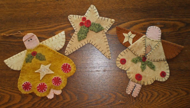 Instant Download CHRISTMAS ANGELS and STAR PENNY RUG ORNAMENTS E PATTERN