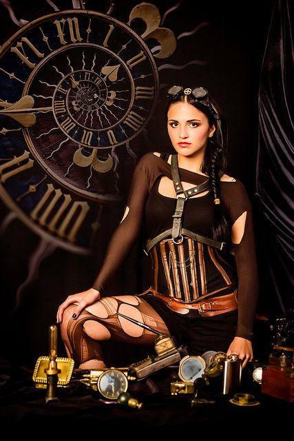 Steampunk clock by octarina8, via Flickr #SteamPUNK ☮k☮