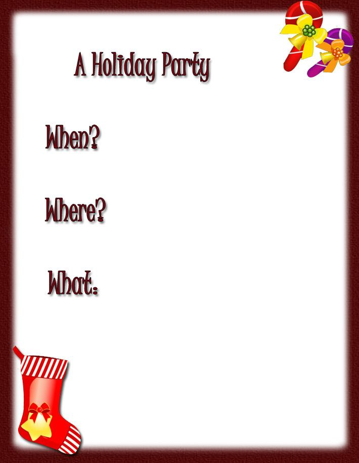 Free Printable Christmas Cards | holiday party invitations, free ...