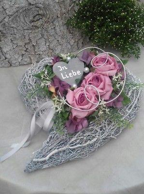 Grabgesteck Grabschmuck Allerheiligen Totensonntag Reisigherz Rosen Herz #friedhofsdekorationenallerheiligen