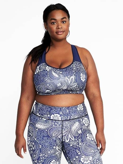 5e05484110560f Old Navy Medium Support Plus-Size Racerback Sports Bra | Products ...