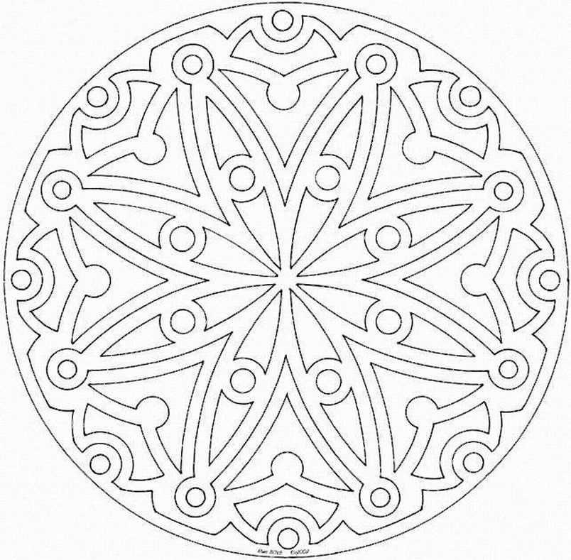 Mandalas Para Pintar | arteyourself | Pinterest | Arabesco, Estampas ...
