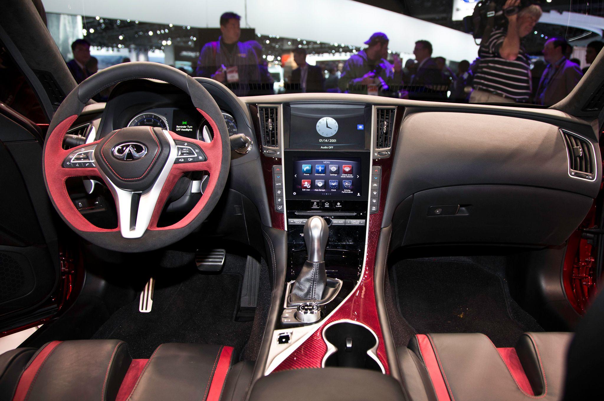 Infiniti Q50 Eau Rouge Concept Interior - http://carwallpaper.org/infiniti-q50-eau-rouge-concept-interior/