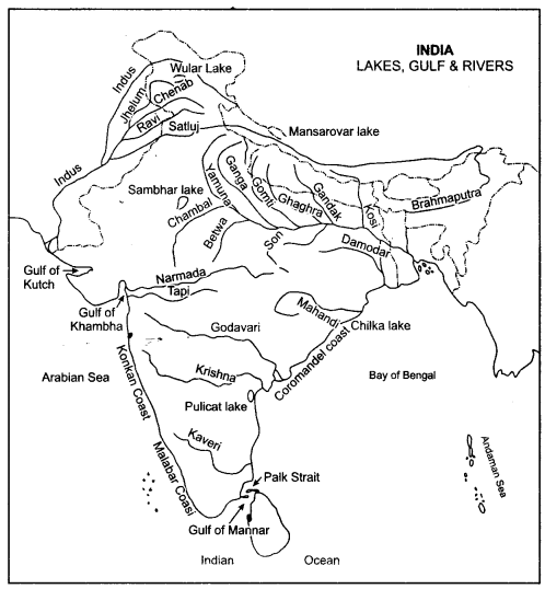 Image result for india rivers map with names | Map outline ...