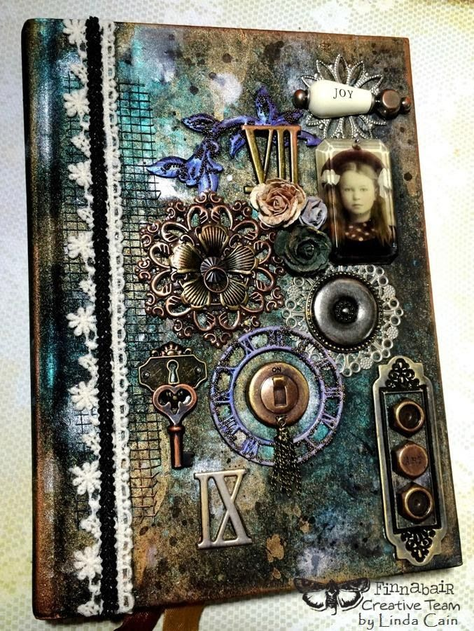 Finnabair: Journal Joy  with tutorial and products used.  Perfect Pearls can be used with watercolors, acrylics, UTEE and other embossing powders.