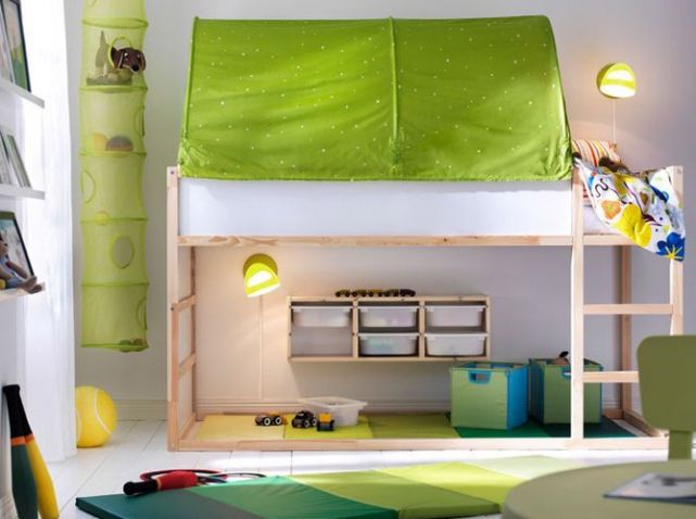 lit mezzanine enfant salle de jeux chambre enfants. Black Bedroom Furniture Sets. Home Design Ideas
