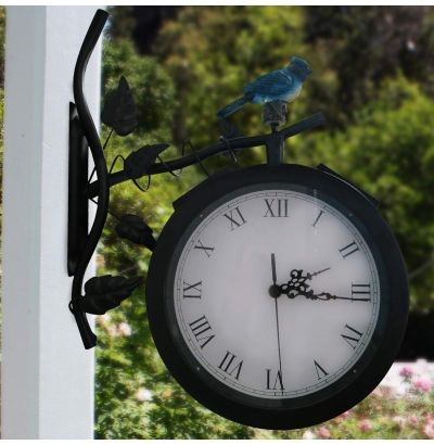 Such a beautiful and useful inclusion of garden accessories. http://www.gardenandponddepot.com/garden-stakes-solar-plants/1916-alpine-solar-lighted-clock-with-bird-.html
