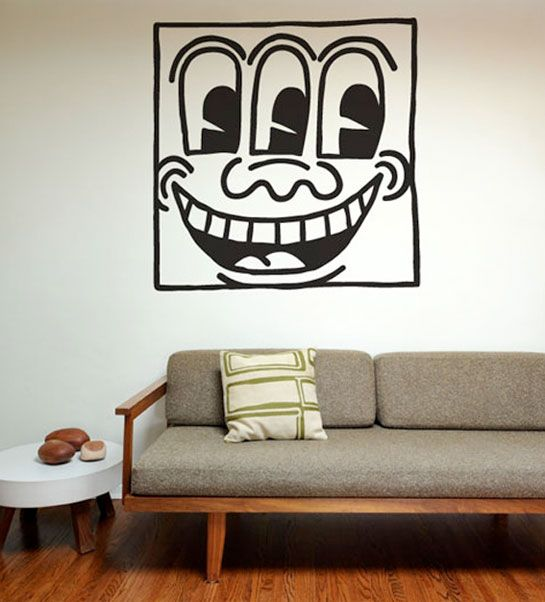 Lovely Keith Haring Wall Decal By Blik Part 28