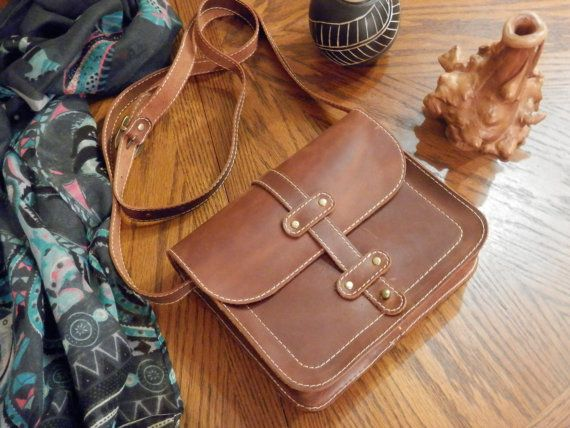 Small leather bag Handmade crossbody bag Leather shoulder