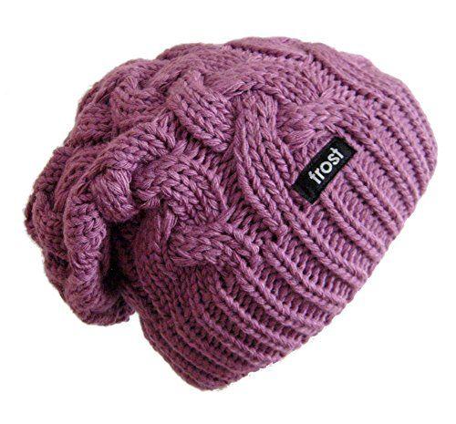 8210807595416 Frost Hats Winter Hat for Women PURPLE Slouchy Beanie Cable Hat Knitted  Winter Hat Frost Hats