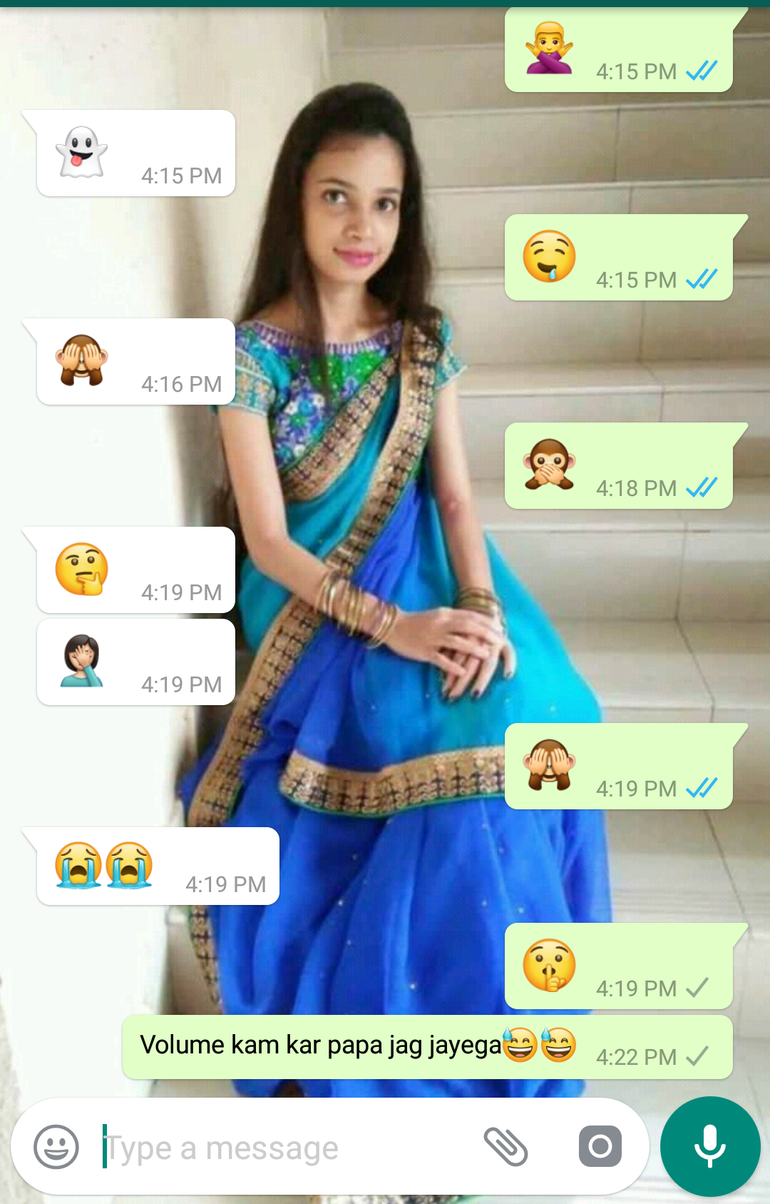 Emoji Silent conversation funny what's app chat with gf